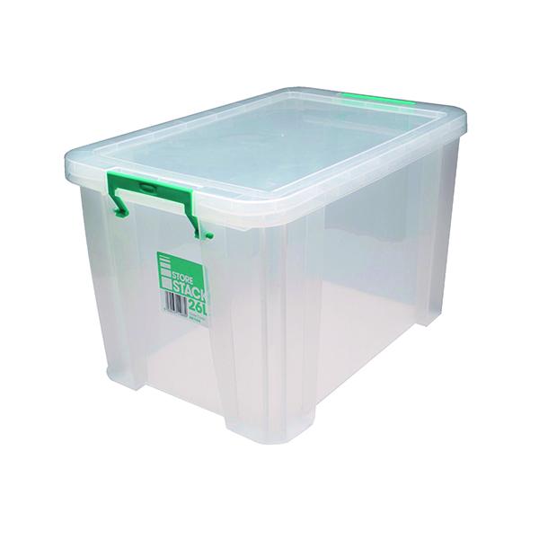 StoreStack 26 Litre Storage Box W470xD300xH290mm Clear RB11088