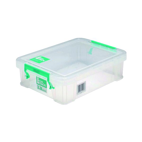 StoreStack 2.3 Litre Storage Box W260xD190xH70mm Clear RB90119