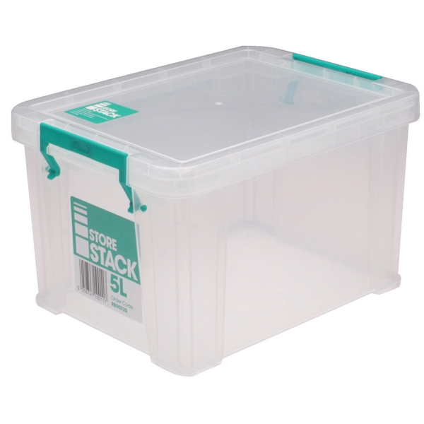 StoreStack 5 Litre Clear W260xD190xH150mm Storage Box RB90120
