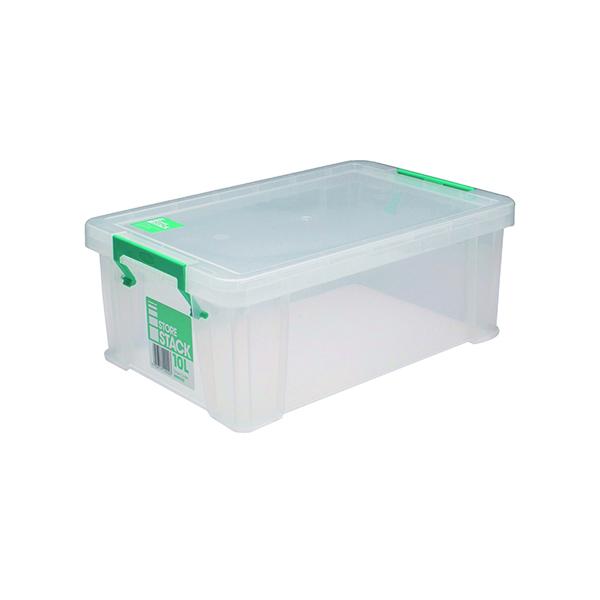 StoreStack 10 Litre Storage Box W400xD255xH150mm Clear RB90123