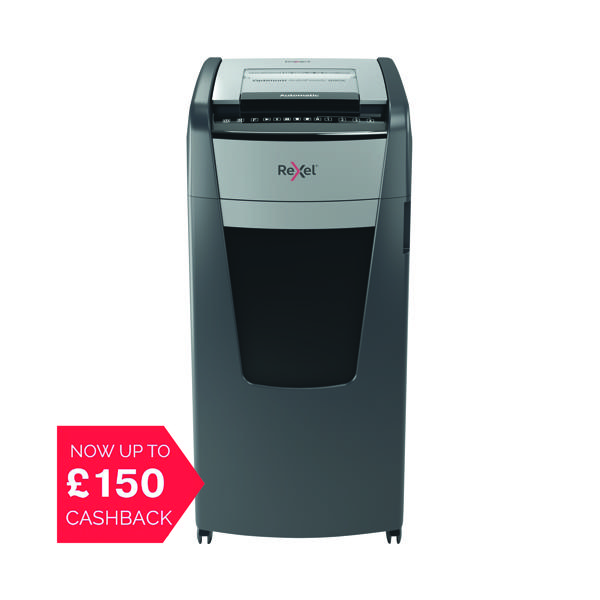 Rexel Auto Plus 600X Cross Cut Shredder (Shreds up to 600 sheets of 80gsm paper) 2103500A