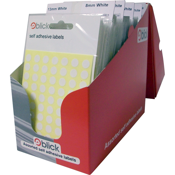 100 x Blick Pop Pack Label White (Comes in a counter-top display box) RS000051