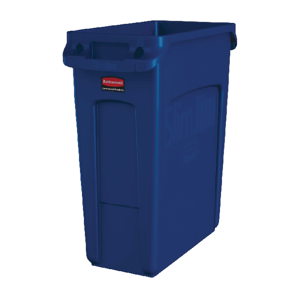 Rubbermaid Slim Jim Container Recycling 60 Litre Blue 1971257