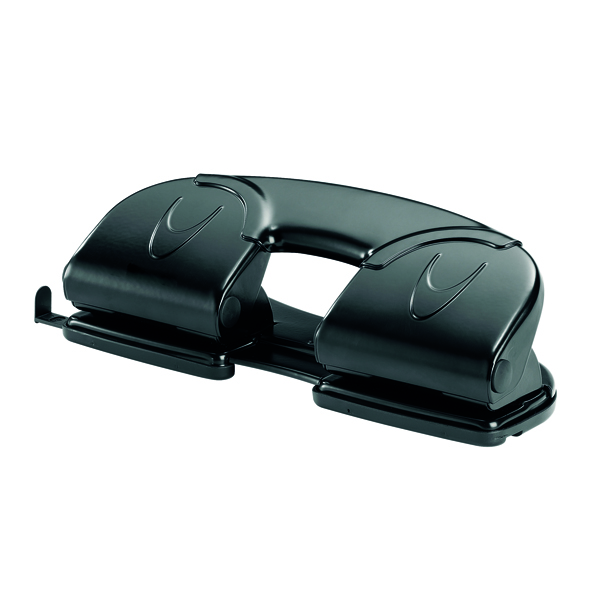 Rexel V412 4 Hole Punch Black (12 Sheet Capacity) 08309