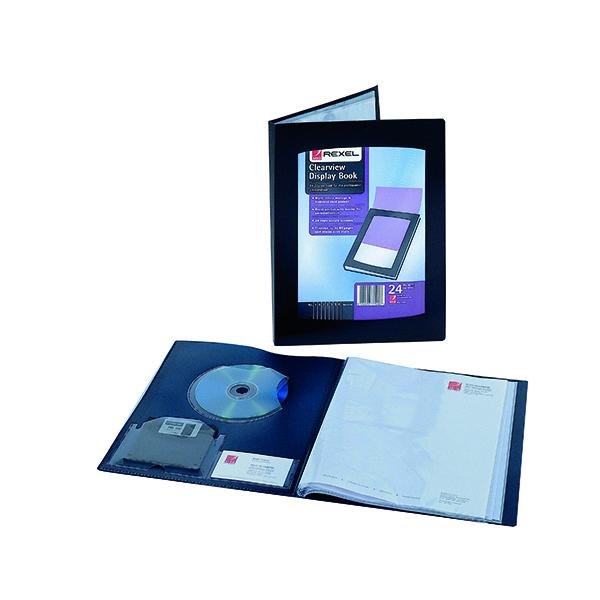 Rexel Clearview Display Book 24 Pocket A3 Black 10405BK