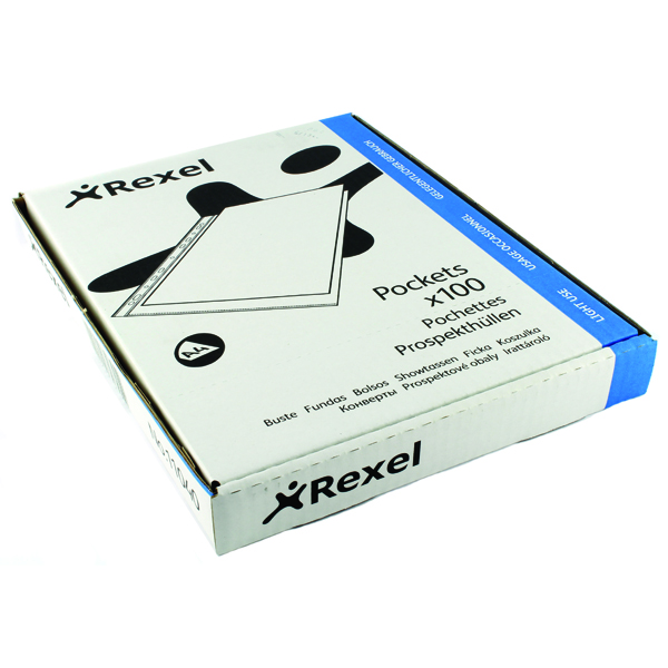 Rexel Superfine Pocket Top Opening A4 Clear (Pack of 100) RSPA4 11040