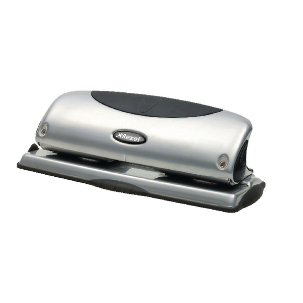 Rexel Precision P425 4 Hole Punch Silver/Black 2100753