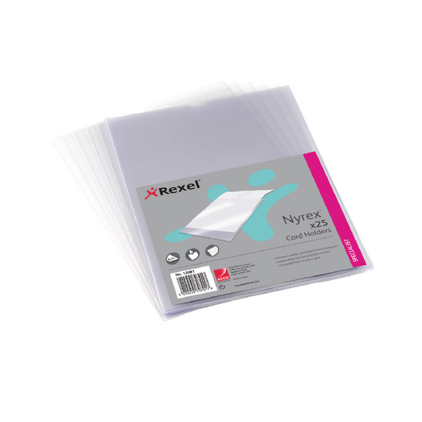 Rexel Nyrex Card Holder Open Top A4 Clear (Pack of 25) PGCA41 12081