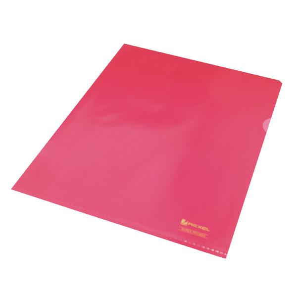 Rexel Nyrex Cut Flush Folder A4 Red (Pack of 25) 12161RD