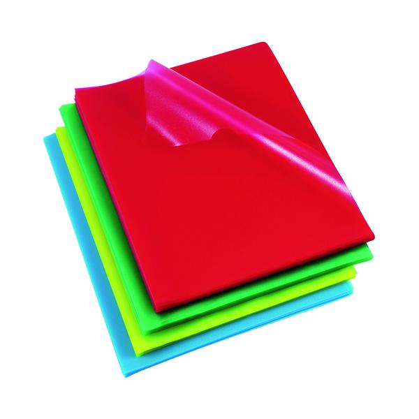 Rexel Cut Flush Folders Polypropylene A4 Assorted(Pack of 100) 12216AS