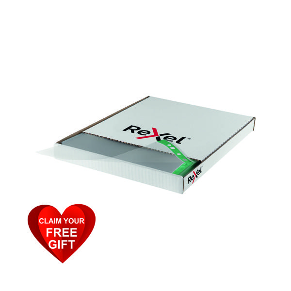 Rexel Pockets Reinforced Polypropylene Clear(Pack of 100)CKP/A4  12265