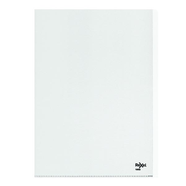 Rexel Nyrex Heavy Duty Folders A4 Clear (Pack of 25) 12300