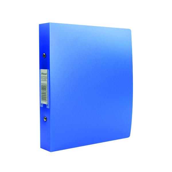 Rexel Budget 2 Ring Binder Polypropylene A5 Blue (Pack of 10) 13428BU