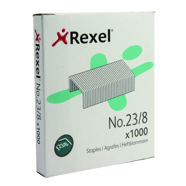 1000 x Rexel No. 23 8mm Staples (8mm staple length for up to 40 sheets) 2101054