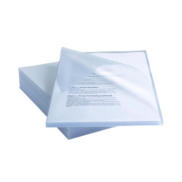 Rexel Anti Slip Cut Flush Folders A4 Clear (Pack of 25) 2102211