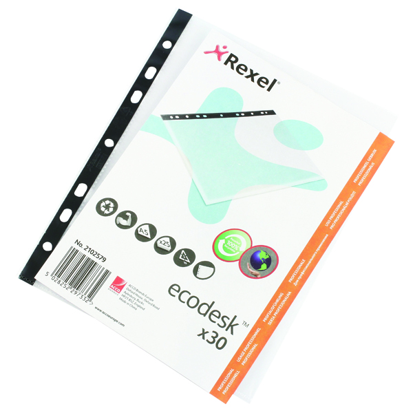 Rexel Ecodesk Recycled Filing Pocket A5 (Pack of 30) 2102579