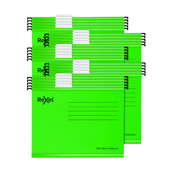 Rexel Classic Suspension Files A4 Green (Pack of 25) 2115586
