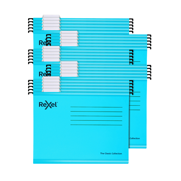 Rexel  Classic Suspension Files Foolscap Blue (Pack of 25) 2115590