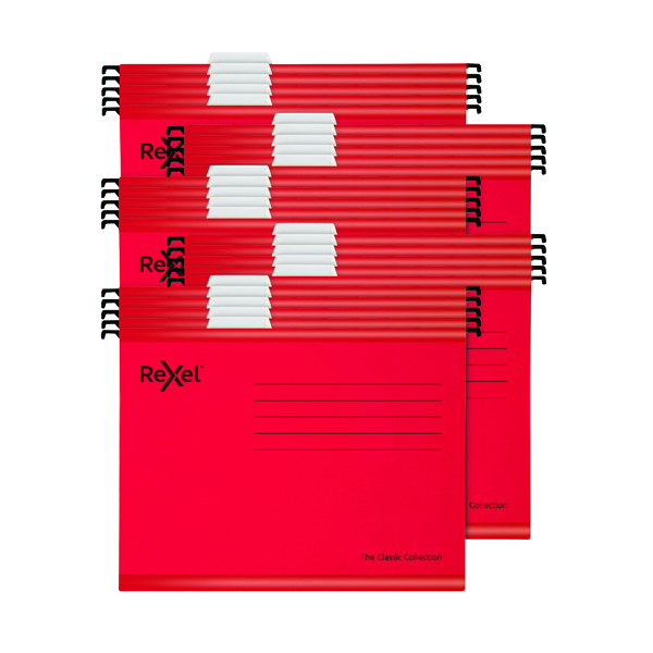 Rexel  Classic Suspension Files Foolscap Red (Pack of 25) 2115592
