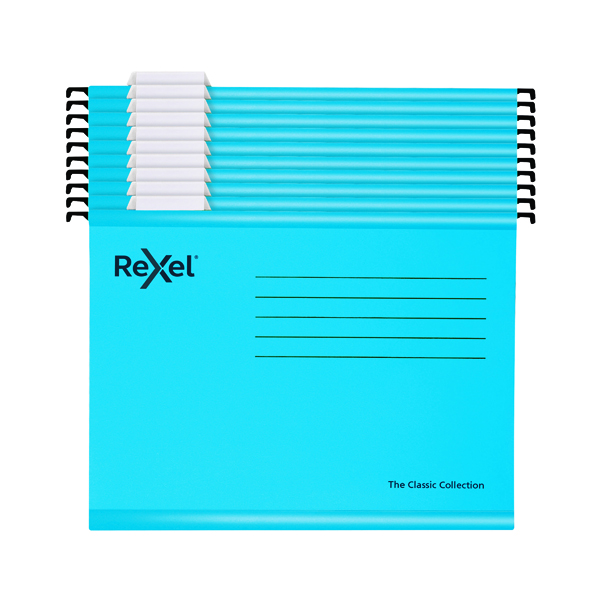 Rexel Classic Suspension Files A4 Blue (Pack of 10) 2115595
