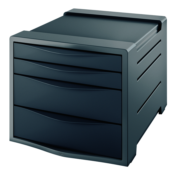 Rexel Choices Drawer Cabinet Black 2115609