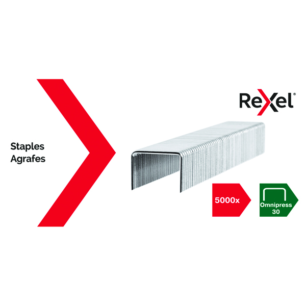 5000 x Rexel Omnipress 30 Staples (For use with Rexel Omnipress Stapler) 2115684