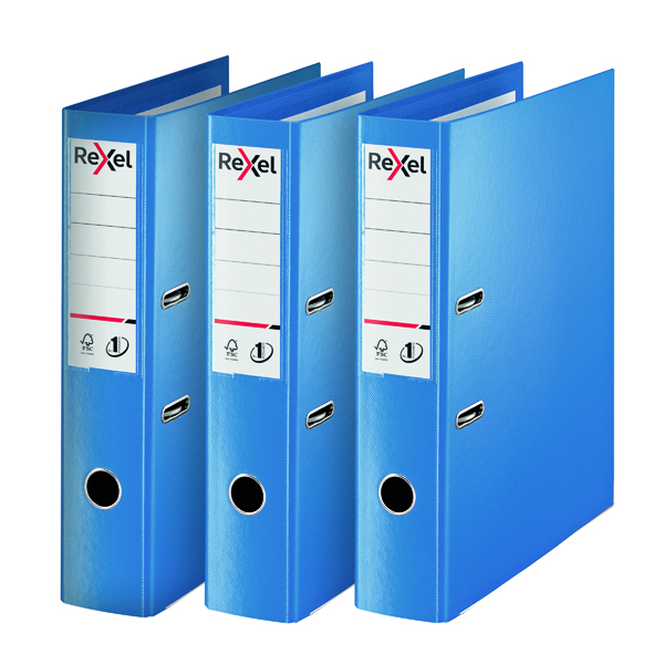 Rexel Choices Lever Arch File Foolscap Polypropylene Blue 3 For 2 RX810228