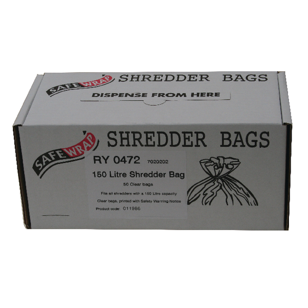 Safewrap Shredder Bag 150 Litre (Pack of 50) RY0472
