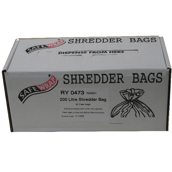 Safewrap Shredder Bag 200 Litre (Pack of 50) RY0473