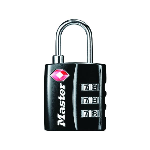Master Lock 32mm TSA Combination Padlock Black 40054