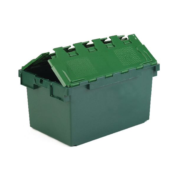 VFM Green 25 Litre Plastic Container With Lid 306579