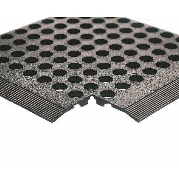 Rubber Worksafe Mat Black 312476 (Pack of 3)