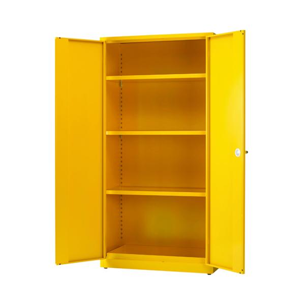 Hazardous Substance Storage Cabinet 72x48x18 inch C/W 3 Shelf Yellow 188733