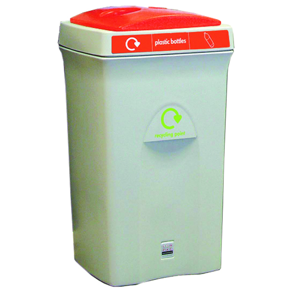 VFM Grey/Orange Plastic Bottles Recycling Bin 315273