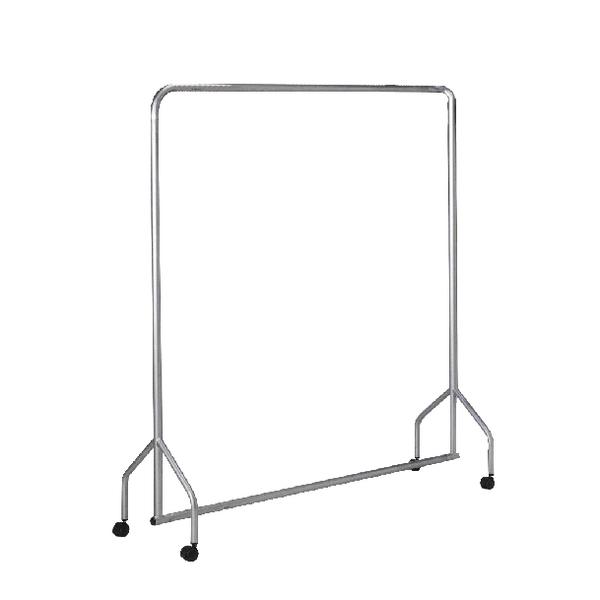 Garment Hanging Rail Silver (L1830 x H1730 x D500mm) 316937