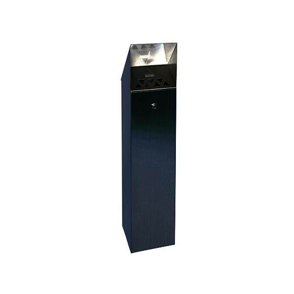 Black Hooded Top 6.6 Litre Cigarette Ash Tower Bin 317469
