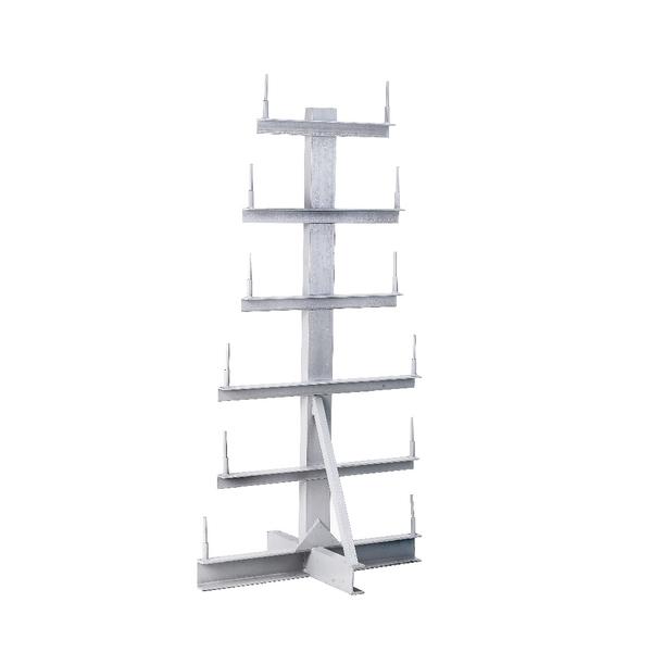 Bar Storage Rack Double Side 350kg/Arm Grey 318943