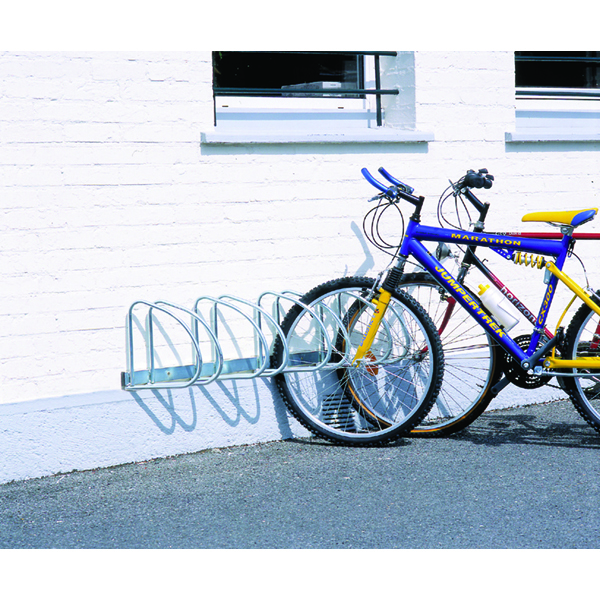 VFM Aluminium Wall/Floor Mounted 4-Bike Cycle Rack 320080