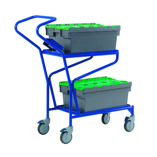 Blue Order Picking Trolley (Overall Dimensions: W570 x L1010 x H990mm) 321870