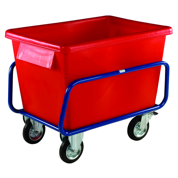 Plastic Container Truck 1040X700X860mm Red (2 fixed and 2 swivel casters, can be removed) 326055