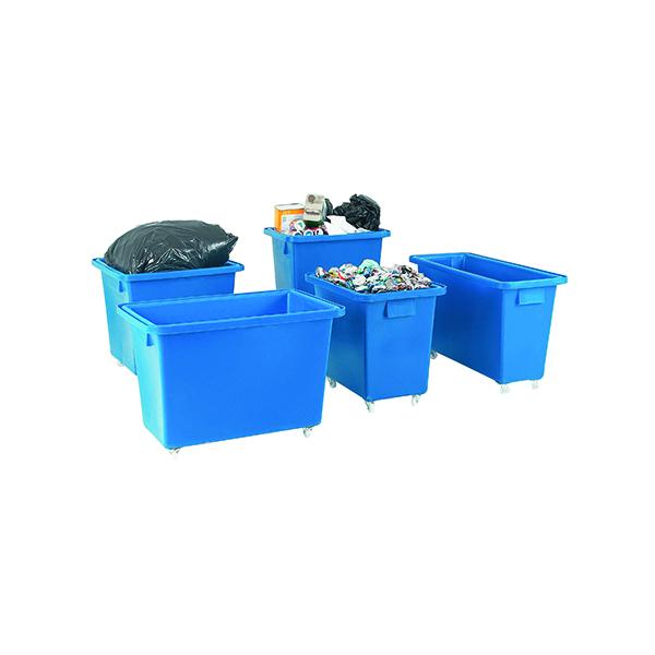 Bottle Skip 790X470X550mm 4X50mm Swivel Blue 328225
