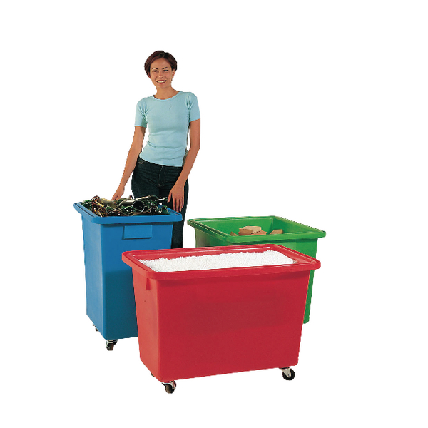 625X570X570mm Blue Mobile Nesting Container 328234
