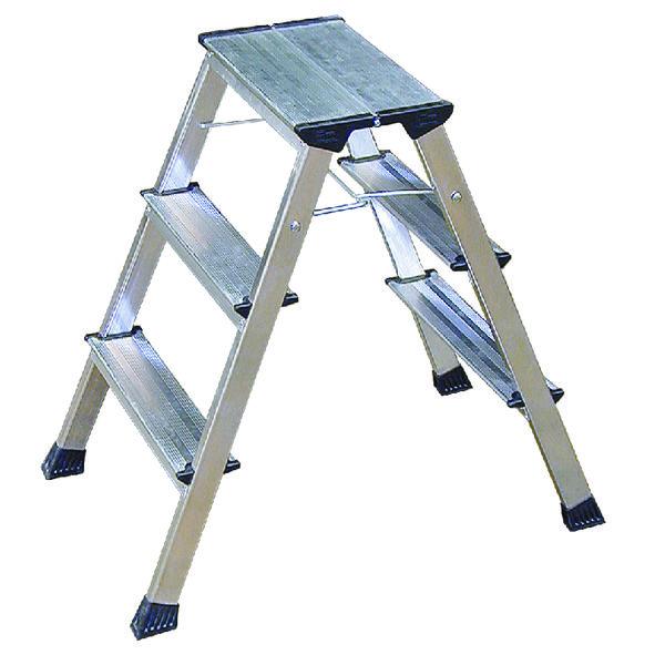 Aluminium 3 Tread Folding Kick Step 349027