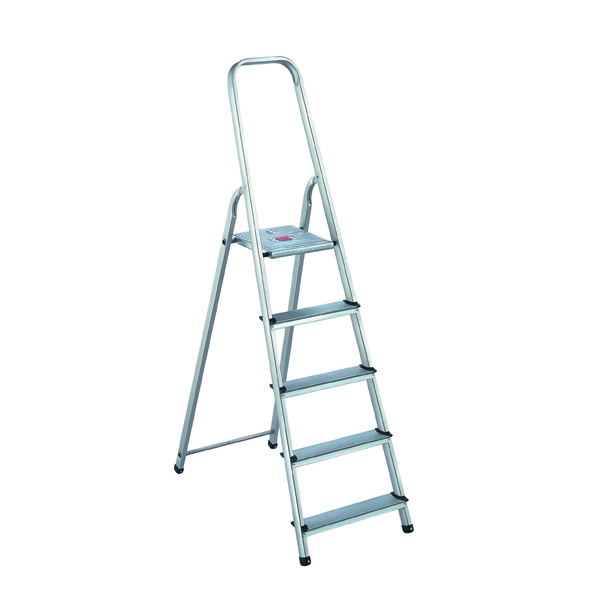 Aluminium Step Ladder 5 Step (Platform sits 980mm Above the Floor) 358739