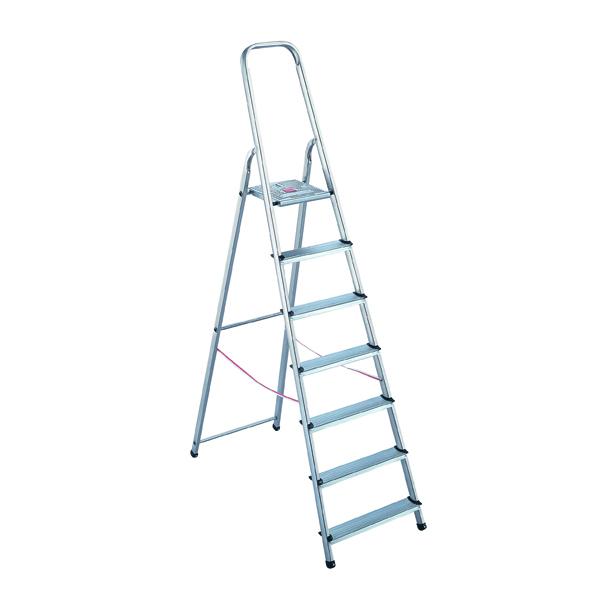 Aluminium Step Ladder 8 Step (Platform sits 1620mm Above the Floor) 358742