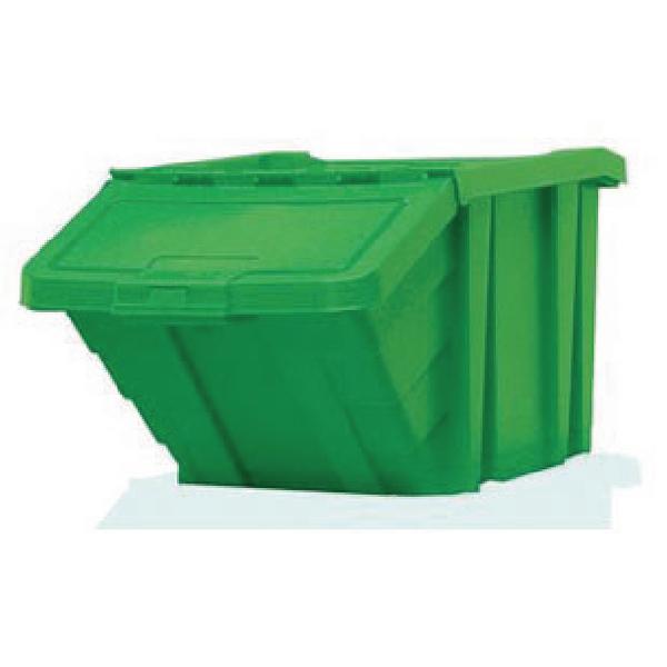 VFM Green Heavy Duty Storage Bin With Lid (Dimensions: 400 x 635 x 345mm) 359520
