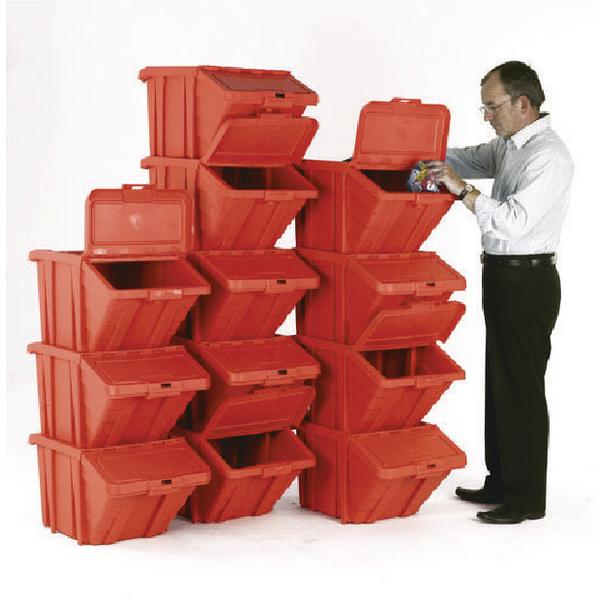 VFM Red Heavy Duty Recycle Bin/Lid (Pack of 12) 369051