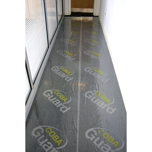 Cobaguard Carpet Protection Film 600mmx50m (Self adhesive, removes without leaving damage) 375016