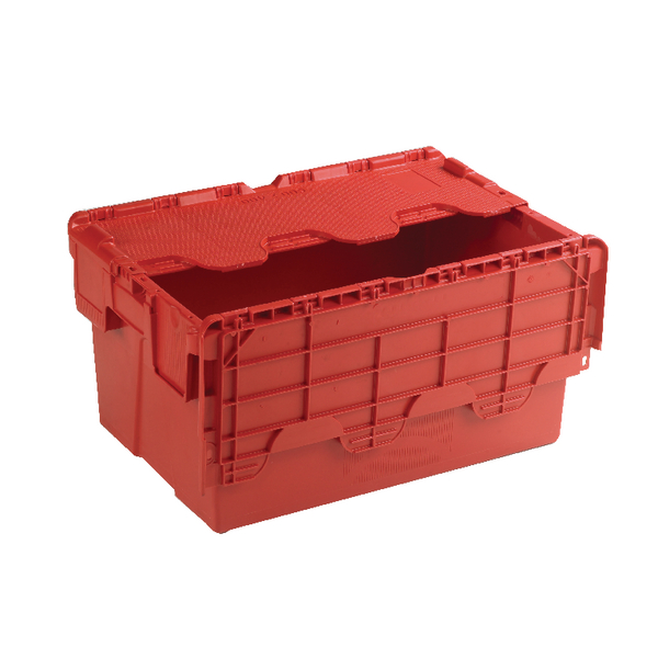 Attached Lid Container 54L Red 375816