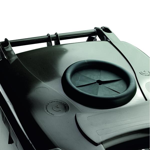 Wheelie Bin With Bottle Bank Aperture 120 Litre Grey 376846